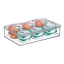 iDesign Cabinet/Kitchen Binz Stackable Kitchen Storage Container, Small Plastic Storage Boxes for the Kitchen, Clear