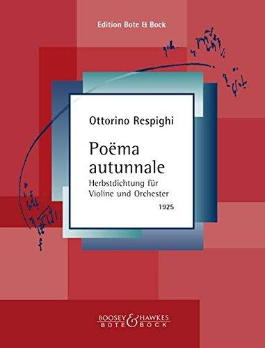 Respighi: Poema Autunnale (Violin & Piano)