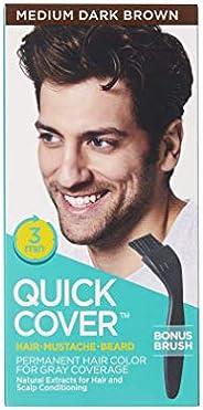 KISS Quick Cover Hair Colour For Men QMC05, Medium Dark Brown