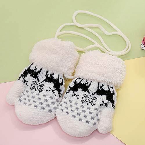 AchidistviQ Schöne Rentier Fleece gestrickt Jacquard Hals hängend Baby Warm Handschuhe, verspielte Kätzchen, große Kapazität, Korea, süße Clutch Bag Damentasche Zufällige Farbauswahl