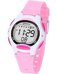 Reloj Digital para Niña Niño,Chicos Chicas Impermeabl Deportes al Aire Libre LED Multifuncionales Relojes de Pulsera con Alarma