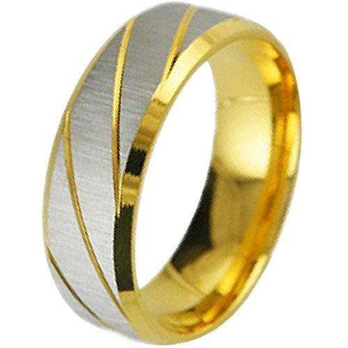 Aooaz Schmuck Herren Ring,Klassische Edelstahl Ring für Herren Silber Gold