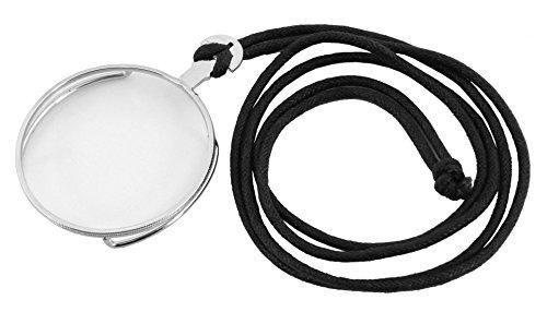 Kostüme Monocle (Steampunk Monokel silberfarben mit Halteband - 42mm Durchmesser für)