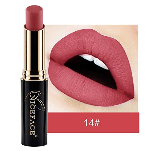 Rouge à lèvres, Honestyi Rouge à lèvres liquide mat longue durée Brillant à lèvres imperméable Maquillage 24 nuances Métallique (002)
