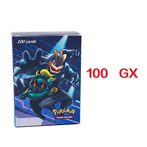 100 PCS. Carte Pokémon, GX/EX/Mega/Energy/Trainer 8 catégories. Cadeau: Film Protecteur/Couverture de Protection pour Cartes de Jeu de 100 Pages,100GX