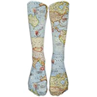 Preisvergleich für Avocado Pattern Pink Sock Classic Fancy Design Multi Colorful Crew Knee High Socks Running Soccer Stockings Atlas...