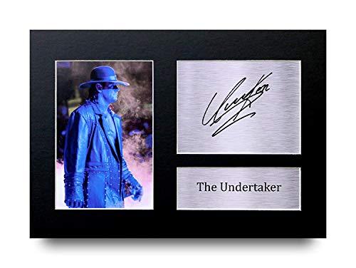 HWC Trading The Undertaker Geschenke Unterzeichneten A4 Gedrucktes Autogramm WWE WWF Ringen Druck-Foto-Bilderanzeige (Poster Wwe)