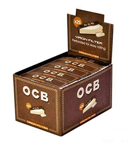 Ocb greggi 15160 vergine filtri, forate - ecologico carta greggi, 18 x 60 mm, 25 x 50 filtro consigli