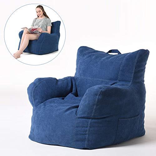 Rabbfay Sitzsack Bezug Aus Flusenmaterial Maschinenwaschbar Große Sofa- Und Riesenliegemöbel Für Kinder, Jugendliche Und Erwachsene,Blau