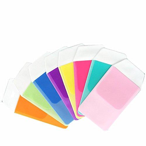 Pocket-pc-leder (4PCS Mehrzweck-Holds Pens bag-pocket Schutzfolie für Pen auslaufen für Schule Krankenhaus- und Büro Farbe zufällige)