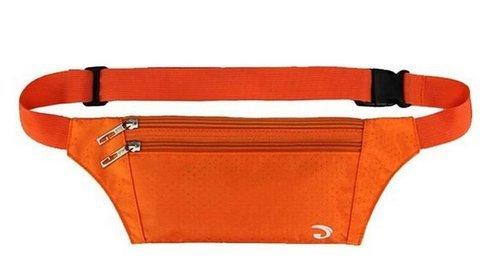 KISS GOLD Hüfttasche Gürteltasche Bauchtasche Waist Bag Nylon Orange