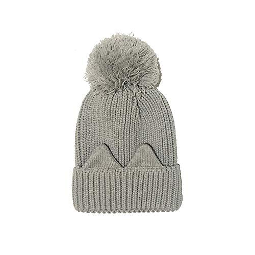 t, Lady Katze Ohr warm gestrickte Hut im Freien Sport atmungsaktiver Schwitzhut,B ()