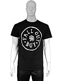 Fall Out Boy Official T Shirt Black Rose Stamp Logo All Sizes