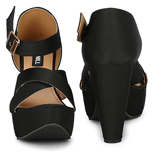 Denill Comfortable, Block Heels for Womens and Girls Black
