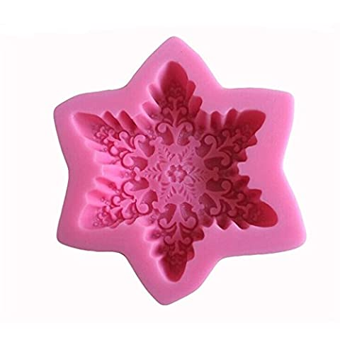 VALINK Snowflake Shaped Silicone Bakeware Chocolate Candy Jelly 3D Silicone Mould Cartoon Cupcake Tools Soap Mold Sugar Craft Cake Decoration