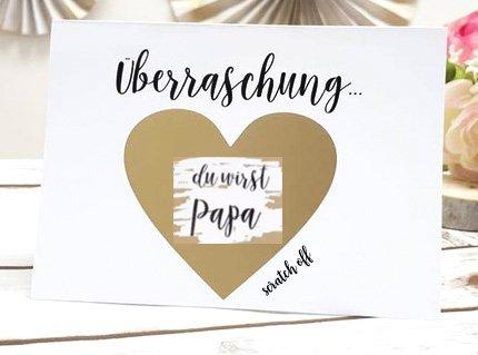 personalisiert Du wirst Papa Geschenk Ich bin Schwanger Baby (Personalisierte Karten)