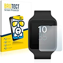 BROTECT AirGlass Protector Pantalla Cristal Flexible para Sony Smartwatch 3 SWR50 Protector Cristal Vidrio - Extra-Duro, Ultra-Ligero
