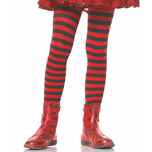Leg Avenue Tights CHLD Striped BK/RD 7-10