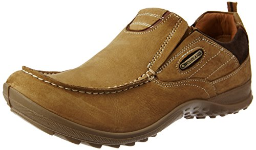 Woodland Men's Camel Leather Sneakers - 6 UK/India (40 EU)  available at amazon for Rs.1857