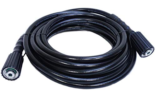 """✦ 3000 PSI 207 bar Œ"""" Tuyau de remplacement en PVC de 7,5 m ✦ pour nettoyeurs haute pression avec connecteur M22 - F"""