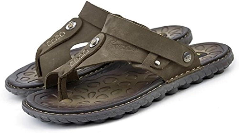Sandalias De Cuero De Verano para Hombres Zapatos De Playa Suaves Sandalias Casuales