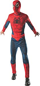Marvel - Disfraz de Spiderman Deluxe Musculoso para adulto, Talla única (Rubie