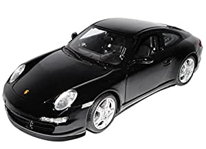 porsche 911 997 s schwarz coupe 1 18 welly modellauto. Black Bedroom Furniture Sets. Home Design Ideas