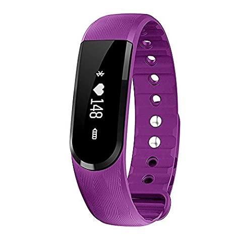moreFit Bracelet connecté avec cardiofréquencemètre, 1-H7 (Viola Bluetooth)