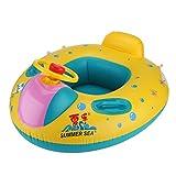 Baby Pool Float, 2018 verbesserte aufblasbare Schwimmring mit Sonnenschutz für Alter 3/6 Monate Toddl
