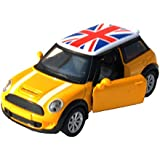Toyhouse 1:32 DIE-CAST Pull Back Car For Children With Light And Sound Yellow