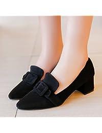 GAOLIM Solo Zapatos Femeninos Primavera Salvaje Zapatos Zapatos De Mujer Gruesas Con La Punta De Los Zapatos De...