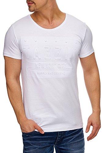 Tazzio Herren Rundkragen T-Shirt 17102 Weiß