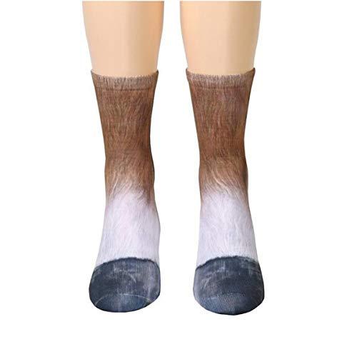 Yodensity Erwachsene/Kinder 3D Drucken Tierpfote Socken aus Baumwolle Halloween Weihnachten Geschenk