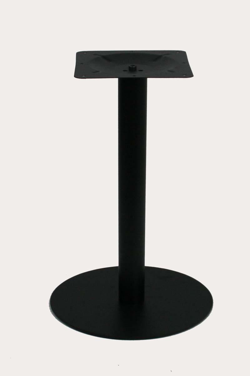 """Tischgestell 75 cm, Tischfuß, Edelstahl, schwarzes Gestell, runder Fuß""""Essen"""" 1"""