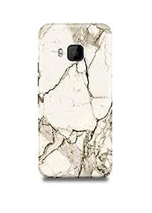 White & Black Marble HTC M9 Case
