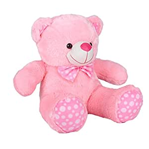 Ultra 2 Feet Fluffy Polka Teddy Bear Soft Toys, Pink