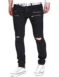MT Styles Biker Jeans Slim Fit Pantalon RJ-2071