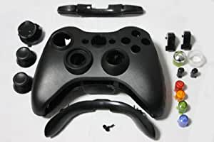 Xbox 360 Matte Black Controller Shell with Black Thumb Sticks - Replacement 360 Wireless Controller Shell Consoles and Gadgets