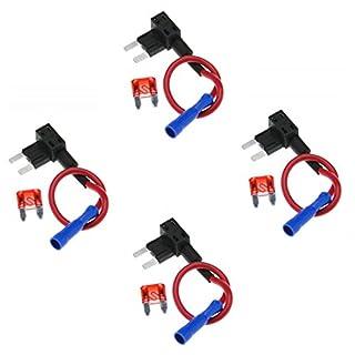 Gankarii - 4pcs Circuit Fuse Tap Piggy Back Mini Blade Ato Atc Fuse Holder Box 12V 24V with A 10A Circuit Mini Blade
