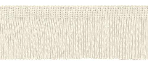 DecoPro-10-Meter-Packung mit 5cm Chainette Trim, Stil # CF02, Farbe: weiß–OW (5m)