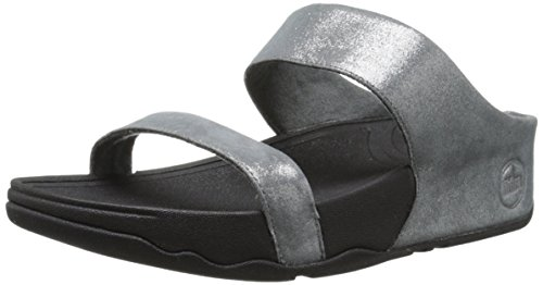 Shimmersuede Lulu Fitflop Estanho Sandália Senhora Slides 4naRqw
