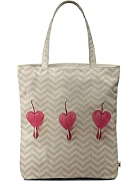 Dailyobjects Tote Bag Chevron Hearts Carry All Bag With Photo Quality Design, Made Of Polyester Canvas With Soft...