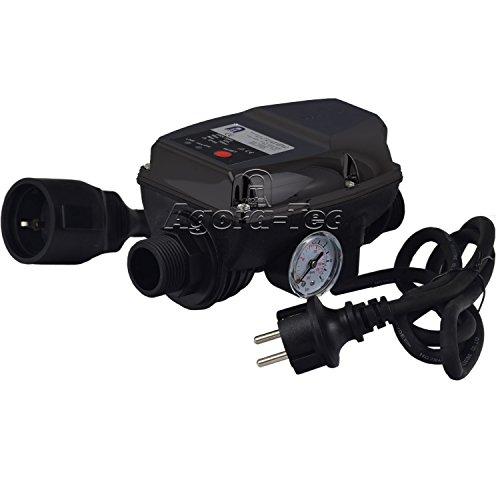 Agora-Tec Pumpen Druckschalter AT-DWv-5 mit Kabel zur Pumpensteuerung für Kreisel-, Tauch- Tiefbrunnenpumpen und Betriebsdruck von 10 bar, AT 003 001 004