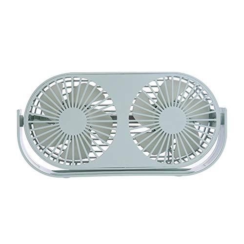 4,6-Zoll-Mini-USB-Tischventilator, 3 Geschwindigkeiten, Doppellüfter, zwei Betriebsarten, Bullt-in-Aromatherapie-Tische, integrierter 2000-mAh-Akku, perfekter Ventilator für Büro und Haushalt,Green -