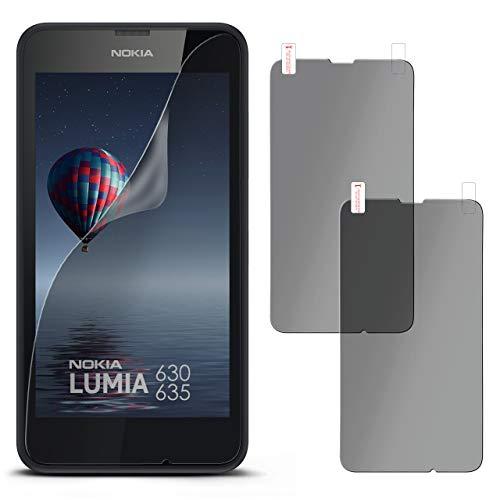 moex 2X Nokia Lumia 630   Sichtschutzfolie Anti-Spy Bildschirmschutz-Folie [Privacy] Screen Protector Dünn Blickschutz-Folie für Nokia Lumia 630/635 Dual SIM Schutzfolie Matt Sicht-Schutz