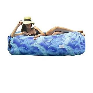 ANAM Aufblasbare Liege Lounger XXL mit Hochwertigem Ultra Stark Nylon-Ripstop (bis zu 200 kg) Luftsofas Couch mit Tragetasche Ideal für Garten; Festivals; Camping; Party; Strand