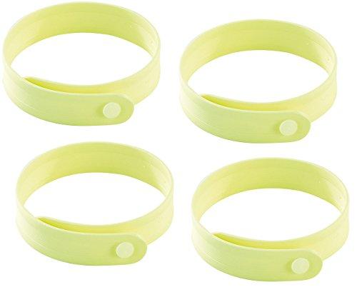 PEARL Mücken-Band: Größenverstellbares Anti-Mücken-Armband in Gelb, 4er-Set (Armband mit Anti-Mücken-Wirkstoff)