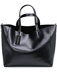 sac a main noir cuir veritable