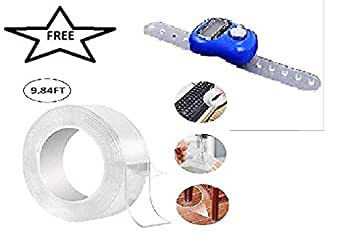 Sharp choice Reusable and Washable Adhesive Silicone Tape,Multi-Functional Anti-Slip Double Sided Sticky Strips,Universal Anti-Slip Gel Pads Sticky Tape,Gel Tape Roll Wall Stickers (3M)
