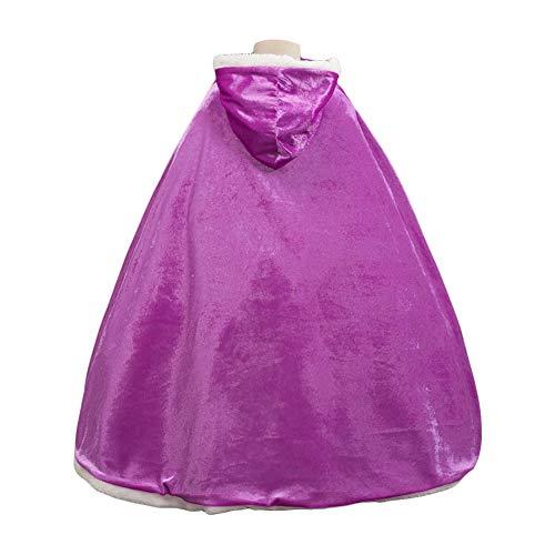 e9587404658f Costumi di Halloween Mantello Bambina Mantello con Cappuccio per Ragazza  Principessa Elsa